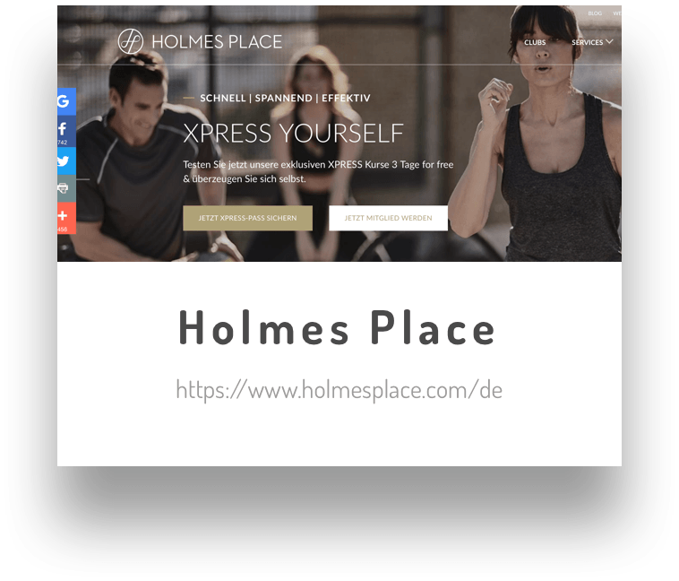 Holmesplace am Potsdamerplatz als Testimonial