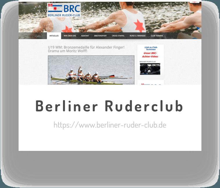 Der Berliner Ruderclub ist Testimonial